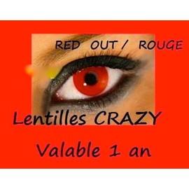 Lentilles De Couleur Pour Halloween Utilisable 1 An Annuelles 365 Jours Blanche, Rouge, Noir, Jaune, Zombie, Vampire, Mort Vivant, Crazy Lens, Pas De Freshlook Envoi Sous 24h Lentille Festive !