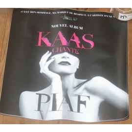 tres rare PLV autocollante PATRICIA KAAS chante PIAF officielle 50x50cm
