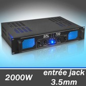 Skytec SPL700 - Ampli DJ sono audio 2000W stereo EQ AUX in MP3 LED