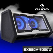 double sono auto LED caisson de basse box bass