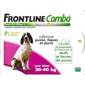 Frontline Combo Chien 20-40 Kg 6 Pipettes