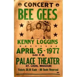 affiche de concert bee gees