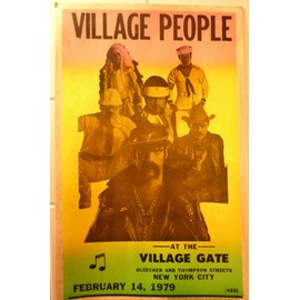 affiche de concert VILLAGE PEOPLE