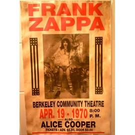 frank zappa affiche de concert