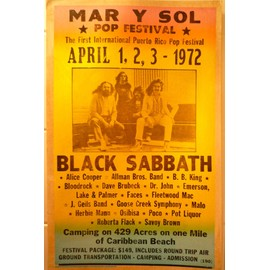BLACK SABBATH AFFICHE DE CONCERT avril 1972 alice ccoper allman brosers BB.KING OSIBISA POCO