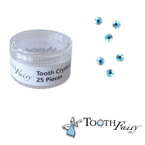 25 Bijoux Dentaires Tooth Fairy Cristaux Bleus