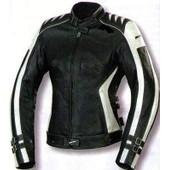 Kc015 Blouson Moto Femme Cuir Cintr� Noir/Beige Karno - Doublure Hiver Amovible