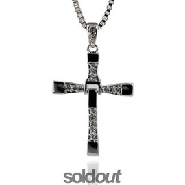 Collier + Pendentif Croix Diamant Fast And Furious Dominic Toretto
