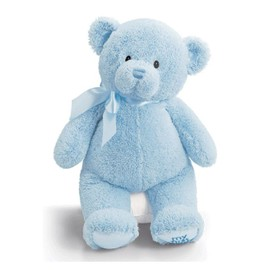 Peluche Ours My First Teddy Bleu 46 Cm Gund