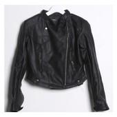 Veste Blonson Simili Cuir Haute Femme Fille Qualit� Noir Biker Motard Moto Gothoque Gothic Rock Jacket Tunique Punk