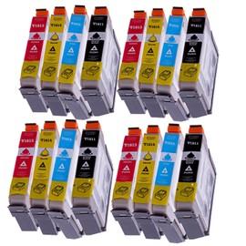 16 Compatible Cartouches Pour Epson T1811 T1812 T1813 T1814 (18xl) Avec Puce Pour Epson Expression Home Xp 30 / Xp 102 / Xp 202 / Xp 205 / Xp 302 / Xp 305 / Xp 402 / Xp 405