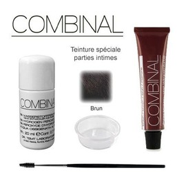 Kit Teinture Parties Intimes Brun 15ml Combinal