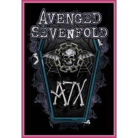 Poster encadré: Avenged Sevenfold - Hail To The King, Chain Coffin (91x61 cm), Cadre Plastique, Pink
