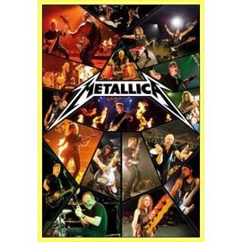 Poster encadré: Metallica - Through The Never, Live (91x61 cm), Cadre Plastique, Jaune