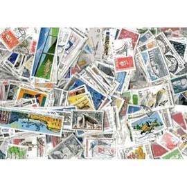Lot de 100 timbres de France oblitérés