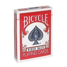 Cartes Bicycle Rider Back Dos Rouge