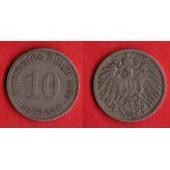 10 Pfennig Deutsches Reich 1899 F Allemagne