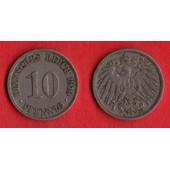 10 Pfennig Deutsches Reich 1910 A Allemagne