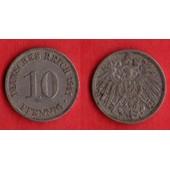 10 Pfennig Deutsches Reich 1911 A Allemagne