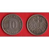 10 Pfennig Deutsches Reich 1911 G Allemagne