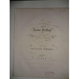 invitation pour la valse rondo pour piano f Weber