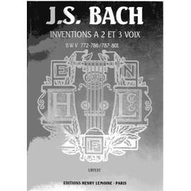 J. S. BACH INVENTIONS A 2 ET 3 VOIX
