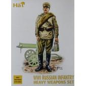 Hat 8080 - Ww1 Russian Infantry Heavy Weapons Set - 1/72e