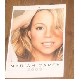 superbe calendrier 2003 papier glacé MARIAH CAREY 6 pages ssuperbes photos