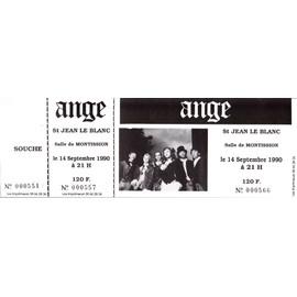 ANGE - Ticket concert du 14/09/1990 à St Jean Le Blanc