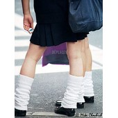 Paire Haut Format Grande Chaussettes Socks Loose Socks Blanc Japonais �coli�re Uniforme Collant School