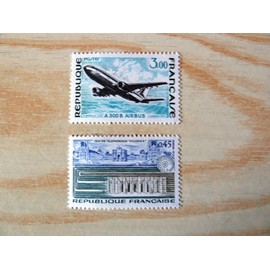 """TIMBRES NEUFS - 1973 - SERIE """"GRANDES REALISATIONS"""" N° 1750 ET 1751"""