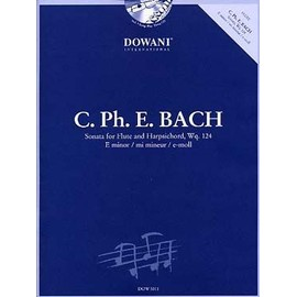 Bach CPE : Sonate Wq 124 en mi mineur + CD