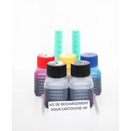 Kit De Recharge Pour Hp 350 Xl /Hp 351 Xl - 3x30ml Couleur, 3x30ml Noir + 1 Seringue