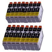 Merotoner - Epson T1811 T 1811 Noir - 16 X Compatible Cartouche Encre Pour Epson Expression Home Xp 30 Xp 102 Xp 202 Xp 205 Xp 302 Xp 305 Xp 402 Xp 405