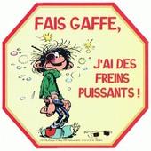Autocollant Gaston Lagaffe - 1997 -Humour -