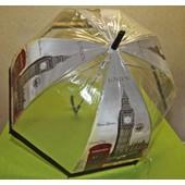 Parapluie Transparent Automatique D�me De 80cm London Londres Fashion Fashion ! Expedition En 24/48hrs