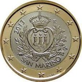 1 Euro 2013 Saint Marin Neuve De Rouleau Armoiries