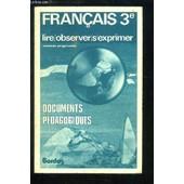 Documents P�dagogiques Pour Le Fran�ais 3e de Andr� Lagarde