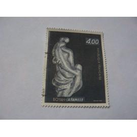 """Timbre N° 2234 de la sculture de Marc Boyan """"la famille"""""""
