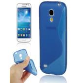 Coque Galaxy S4 Mini Semi Rigide Bleu Translucide Samsung Galaxy S4 Mini