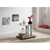 Table D' Appoint Swithome Tyra Verre / D�cor Noyer