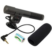 SG-108 3.5mm stereo microphone for Nikon D5100 D7000 D300s DV Camcorders LF81-PM1