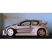 Peugeot 206 Mtk Targa Collection Tuning Solido 8181 1/18 New Gris Argente