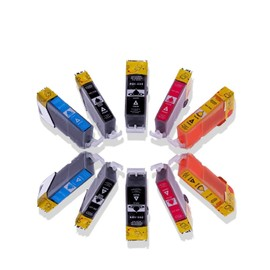 Lot De 10 Cartouches D'encre Avec Puce Compatible Pour Pgi 525 / Cli 526 Pour Canon Pixma Mg 5150, Mg 5200, Mg 5250, Mg 5350, Mg 6150, Mg 6220, Mg 6250, Mg 8150, Mg 8220, Mg 8250