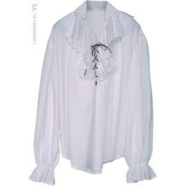 Chemise Epoque Femme Pirate Blanche Taille M