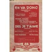 Eh, Va Donc ! + Des Je T'aime - Contrebasse + Piano Conducteur + Instrument Ut + Instrumznt Mib + Instrument Sib + Guitare Electrique. de Alicata G.