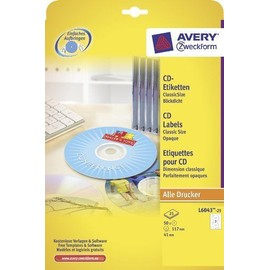 Avery Zweckform �Tiquettes Cd/Dvd Classicsize, Blanches