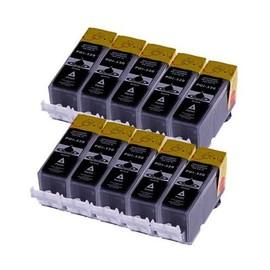 10 X Cartouches D'encres Compatible Pour Canon Pgi520bk Pgi 520 Pour Imprimantes Canon Pixma Ip3600 / Pixma Ip4600 / Ip4700 / Pixma Mp980 / Mp630 / Mp620 / Mp540 / Mp560 / Mp550 / Mp640 / Mp980 / Mp99