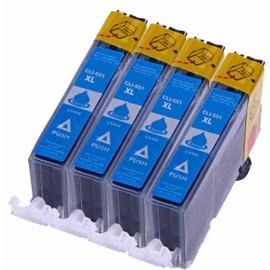 Pack De 4 Cartouches D'encre Pour Canon Cli-551 Cli551 , Canon Cli 550 Cli 551 (Cyan)