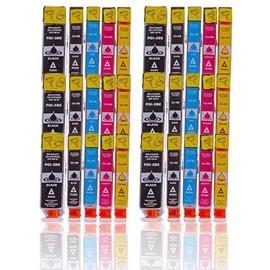 30 X Cartouches D'encres Compatible Pour Canon Pgi5 Bk + Cli8 Bk + Cli8 C + Cli8 M + Cli8 Y Pour Imprimantes Canon Pixma Ip4200 Ip4300 Ip4500 Ip5200 Ip5100 Mp500 Mp530 Ip5200r Ip5300 Mp600 Mp610 Mp800